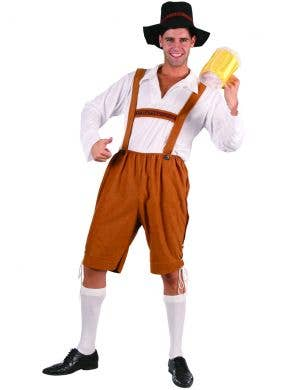 Alpine Beer Man Oktoberfest Men's Lederhosen Costume
