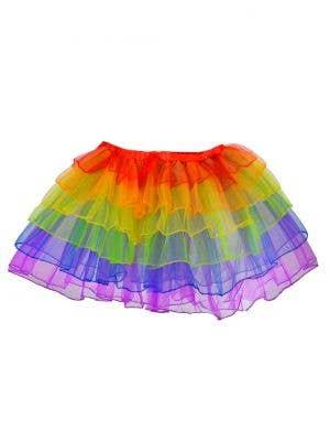 Rainbow Layered Women's Petticoat Costume Accessory