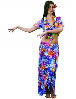 Hawaiian Women's Sexy Floral Fancy Dress Costume