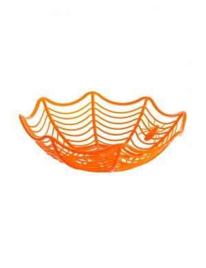 Spiderweb Orange Halloween Candy Basket