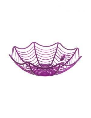 Spiderweb Purple Halloween Candy Basket
