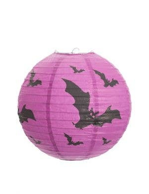 Batty Purple Paper Halloween Lantern Decoration