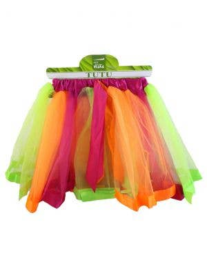 Layered Pink, Orange and Green Women's Costume Tutu