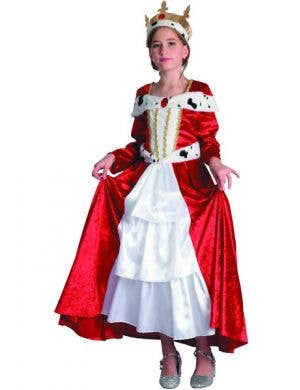 Renaissance Girl's Velvet Red Queen Costume