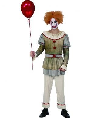 Creepy Horror Movie Clown Men's Halloween Costume