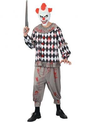 Creepy Horror Clown Men's Halloween Fancy Dress Costume