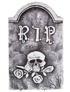 RIP Skull and Roses Tombstone Halloween Decoration
