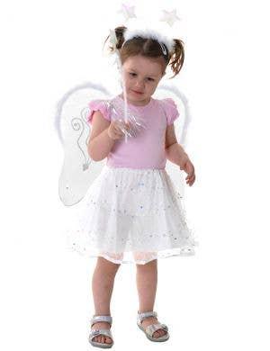 Little Angel Toddler's White Tutu Accessory Set