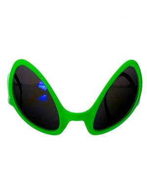 Alien Neon Green Slanted Costume Accessory Sunglasses