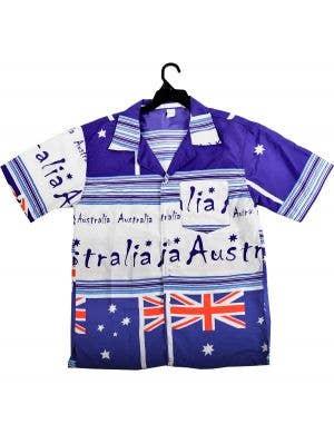 Aussie Flags Australia Day Men's Button Up Costume Shirt