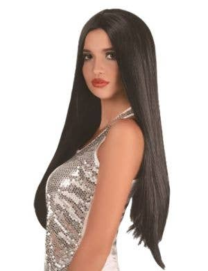 Extra Long Women's Straight Black Costume Wig