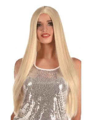 Extra Long Women's Straight Blonde Costume Wig