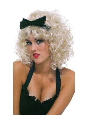 Material Girlie Women's Curly Blonde 1980's Wig