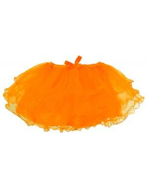 1980's Neon Orange Women's Costume Tutu