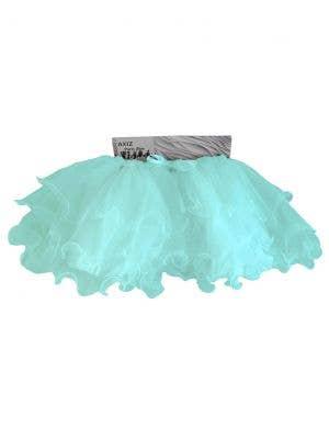 Fluffy Aqua Blue Ruffled Mesh Women's Tutu Skirt