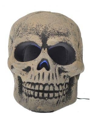 Strobing Light Up Skull Head Halloween Decoration