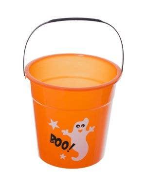 Trick Or Treat Orange Halloween Candy Pail