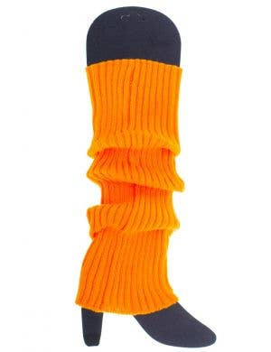 Neon Orange Women's 80's Leg Warmers Accessory