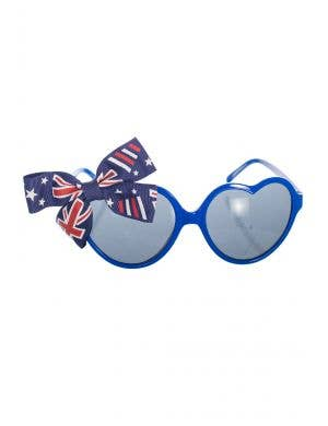 7380b9a72a Blue Heart Shaped Novelty Australia Day Glasses with Bows