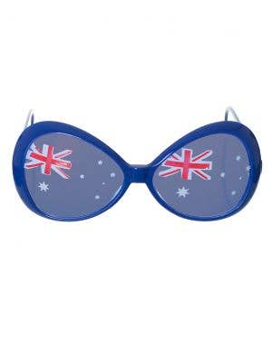 Large Blue Aussie Flag Australia Day Sunglasses