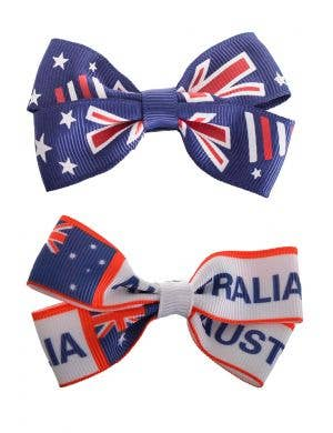 Australia Day Hair Bow Accessory Set