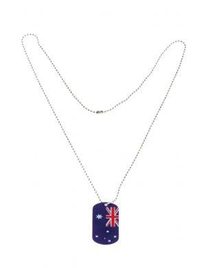 Australian Flag Dog Tag Novelty Australia Day Necklace