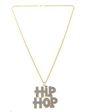 Hip Hop 90's Rapper Gold Chain Costume Accessory