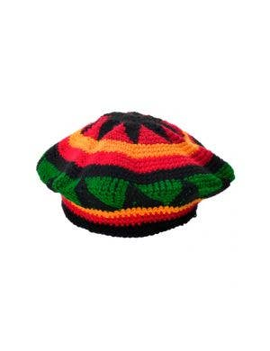 Knitted Jamaican Rasta Costume Hat Accessory