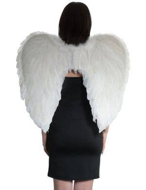 Large White Feather Angel Costume Wings