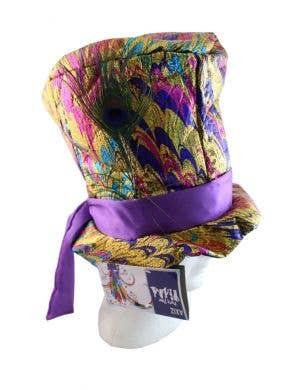 Metallic Multicoloured Mad Hatter Costume Hat