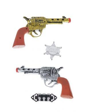 Western Hero Cowboy Revolvers Costume Accessory