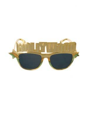 Novelty Gold Hollywood Costume Accessory Glasses