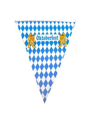 Oktoberfest Blue and White Checkered Bunting Decoration