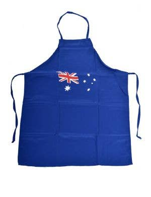 Blue Fabric Australia Day Flag BBQ Apron