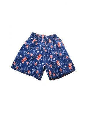 Australian Flag Boy's Blue Costume Board Shorts