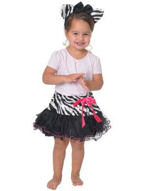 Zebra Black and White Toddler Tutu and Ears Costume Set