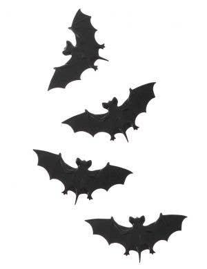 Pack of 4 Black Bat Halloween Decoration