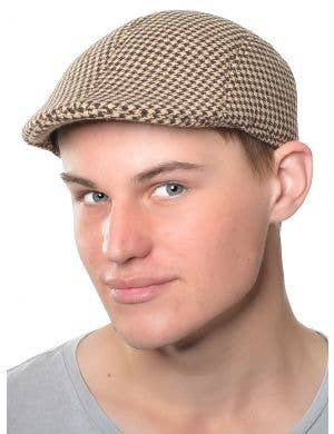 1940's Tan Tweed Men's Costume Accessory Hat
