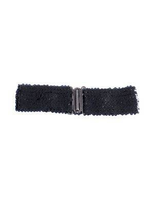 Black Sequin Stretch Belt Costume Accessory