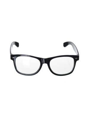 School Nerd Black Frame Adult's Costume Glasses