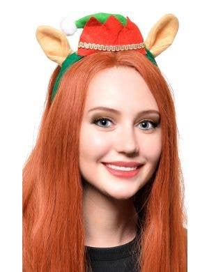 f58c79b7d7dd6 Elf Hat with Ears Novelty Christmas Headband