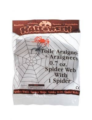 Stretchy White Spiderweb Decoration with 1 Spider