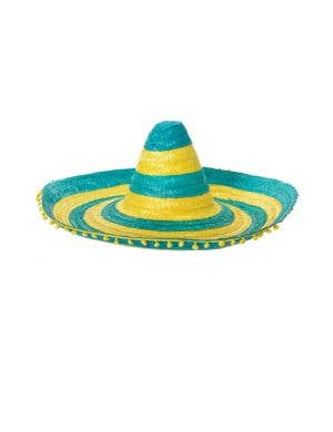 Aussie Green And Gold Mexican Sombrero Hat Accessory