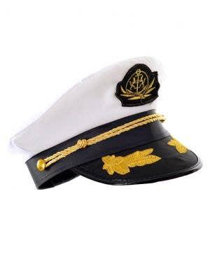 Sailor Captain Black and White Costume Hat