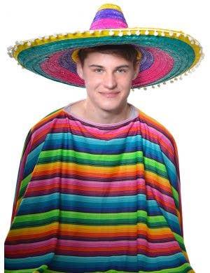 Multi Colour Adult's Mexican Sombrero Costume Hat
