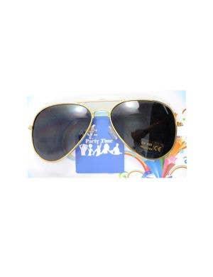 Aviator Gold Frame Costume Accessory Glasses
