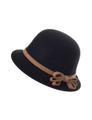 Maroon Red Felt 1920 s Women s Cloche Bell Hat Costume Accessory ... c55d3e0c617