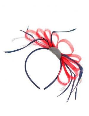 Elegant Red, White and Blue Australia Day Fascinator on Headband