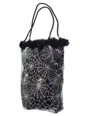 Spiderweb Black and Silver Trick or Treat Bag