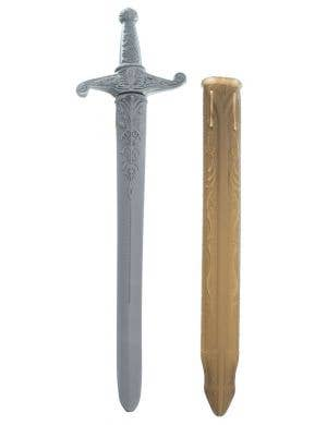 Medieval Knight Sword and Scabbard Costume Weapon